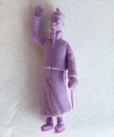 FIGURINE PUBLICITAIRE STENVAL TINTIN 40 monochrome Violet - pas dunkin - herg�