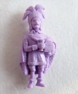 FIGURINE PUBLICITAIRE STENVAL TINTIN 41 monochrome Violet - pas dunkin - herg�