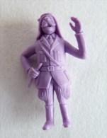 FIGURINE PUBLICITAIRE STENVAL TINTIN 42 monochrome Violet - pas dunkin - herg�