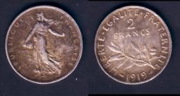 2 F SEMEUSE ARGENT 1919 TTB+