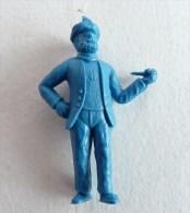 FIGURINE PUBLICITAIRE STENVAL TINTIN 45 monochrome Bleu - pas dunkin - herg�