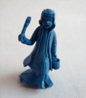 FIGURINE PUBLICITAIRE STENVAL TINTIN 46 monochrome Bleu - pas dunkin - herg�