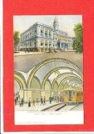NEW YORK Cpa Animée City Hall Undergroung Loop Station          1913 Ill Posqt - Transports