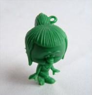Rare FIGURINE PUBLICITAIRE CABEZONES 01 Monochrome Vert - Dunkin - Origine ESPAGNE - Figurines