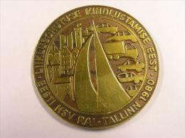 Estland Estonia Estonie 1980 Grosse Medaille Big  Table Medal Traffic Verkehr - Pièces écrasées (Elongated Coins)