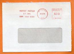 EMA  59 LILLE   INSTITUT PASTEUR           13 / 12 / 1978 Lettre Coupée N° 1230 - Marcofilia (sobres)