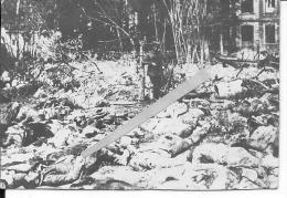 Monchy Le Preux Cadavres Après La Bataille 1 Photo 1914-1918 14-18 Ww1 WwI Wk - Guerre, Militaire