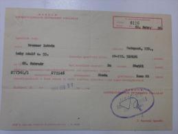 Hungary    Neyereményutalvány - SKODA  1000MB  - Automobile   MERKUR  -car Dealer  1968  - J1217.13 - Facturas & Documentos Mercantiles