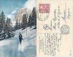 Passo Falzarego Tofana CORTINA RARISSIMA 1911 Dolomiten Winterszeit (S-L XX185) - Belluno