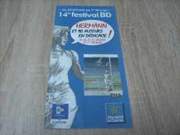Hermann Et 40 Auteurs En Dédicace : Programme Du 14ème Festival Bd Atlantis (année 2003) - Livres, BD, Revues