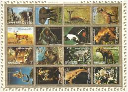 Ajman State Block Gestempelt - Air Mail. Wild Animals, Tiere Großformat!! Siehe Scan - Adschman