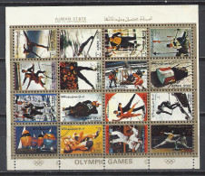 Ajman State Block Gestempelt - Airmail. Olympic Games Olympische Spiele München 1972 Jeux Olympiques - Adschman