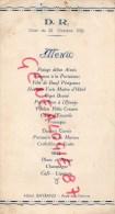 87 - AIXE SUR VIENNE - MENU HOTEL BAYRAND- DINER DU 22 OCTOBRE 1938 - Menus