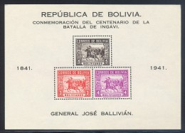 Bolivia - 1943 Battle Of Ingavi Block (2) MNH__(THB-5355) - Bolivia