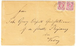 Vorläufer - Östterreich Mi#46 ZU#69 2x5 Kreuzer 1883 Auf Brief Von Schaan Nach Vaduz Mit Attest Marxer - Liechtenstein