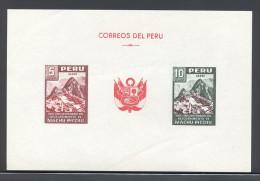 Peru - 1961 Machu Picchu Block MNH__(THB-5340) - Peru