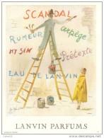 """PUBLICITE-PARFUM-LANVIN \""""""""SCANDAL/ARPEGE\"""""""" 1955-269 - Labels"""