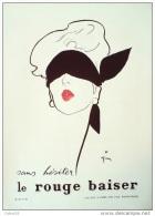 PUBLICITE-PARFUM-ROUGE BAISER-1933-14 - Labels