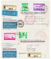 Lot Je Nord Und Südamerika Fahrt Zeppelin Nach Canada Und Argentinien Mit ZU# F14 U Andere F15 - Air Post