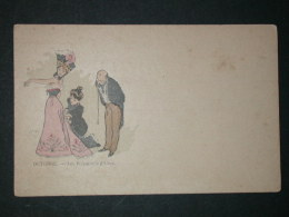 Ref3131 WA CPA - Octobre Les Préparatifs D'hiver - Tailleur Reprenant Une Robe - Kely J. (1899?) - Artisan - Craft