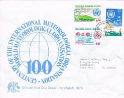 9902. Carta F.D.C. NAIROBI (Kenia) 1973. Meteorological Centenary - Tanzania (1964-...)