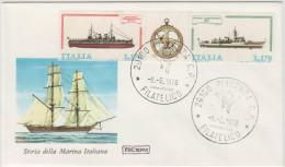 ITALIA - ITALY - 1978 - STORIA DELLA MARINA ITALIANA - Serie ROMA - FDC - 6. 1946-.. Repubblica