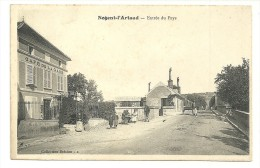NOGENT L'ARTAUD Dpt02 Entrée Du Pays - Café De La Gare Animée - Autres Communes