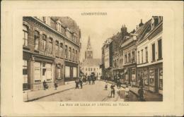 59 ARMENTIERES / La Rue De Lille Et L'hôtel De Ville / - Armentieres