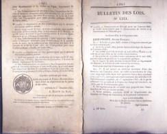 Bulletin Des Lois Du 3 Octobre 1845 – 169 Ans D'âge ! - Construction De Six Paquebots à Vapeur Destinés à établir Une Co - Decrees & Laws
