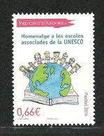 ANDORRE.UNESCO (Hommage Aux écoles Associées). Un T-p Neuf ** 2014 - French Andorra