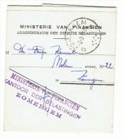 Ministerie Van Financiên Zomergem - Facturas & Documentos Mercantiles