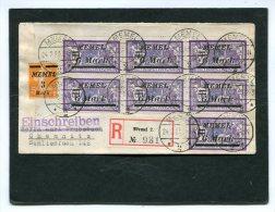 Deutsches Reich Memel Klaipeda Brief Einschreiben 1923