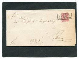 Deutsches Reich Brief 1879 Stempel  Politz - Alemania