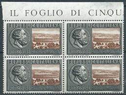 1955 ITALIA GIORNATE MEDICHE A VERONA QUARTINA MNH ** - QBA - 1946-60: Nuovi