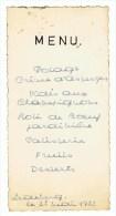 Menu Kaart 1953 Voorzien Van Handtekeningen  Fam; Vanderstuyft - Belgique
