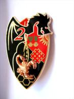 INSIGNE REGIMENT DE DRAGONS LE 2� RD LE 2� ESCADRON (NBC) AVEC SCORPION A.B PARIS ETAT EXCELLENT