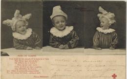 """FANTAISIE ENFANT LITTLE GIRL BOY MAEDCHEN BEBE : """" Nouvelles Frimousses Menu De Clown """" Enfants Bébés Faisant Le Pitre - Babies"""