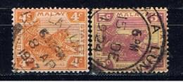MAL+ Malaya 1922 Mi 58-59 Tiger - Straits Settlements