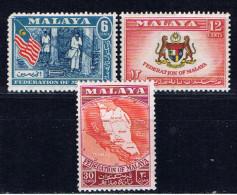 MAL+ Malaya 1957 Mi 1-2 4 Mvlh Ansichten - Federated Malay States