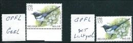 Buzin nr 2988**  CPFL - 1x felgele Fluor + 1x wit/lichtgele Fluor onder UV-lamp