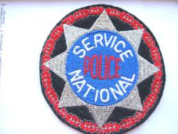 ANCIEN INSIGNE TISSUS PATCH POLICE NATIONALE SERVICE NATIONAL ETAT EXCELLENT
