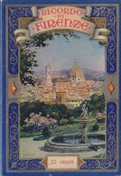 Publicité - Ricordo Di Firenze - Dépliant - Vue Panoramique Ville Et Monuments - Verso Légendé - Plan Ville - Publicités