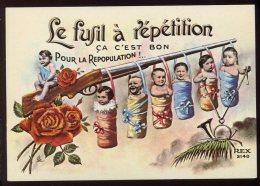 CPM Neuve Humoristique Le Fusil à Répétition C'est Bon Pour La Repopulation Bébés - Humor
