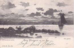 AK Helle Mondnacht An Der See (7631) - Künstlerkarten