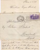 88  Busta / Cover Con Lettera. Palermo / Racalmuto. Cents 50 - 1900-44 Vittorio Emanuele III