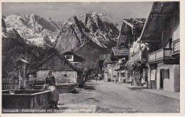 """AK Garmisch - Frühlingsstrasse Mit Waxenstein Und Zugspitze - Werbestempel """"IV. Olympische Winterspiele"""" - 1939 (7643) - Garmisch-Partenkirchen"""