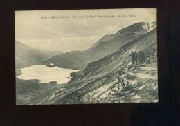 CPA N° 2708  ALpes De Savoie Lac Et Col Du Mont Cenis Vus De La Turra  Animée - France