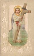 Heiligenbildchen, Andenken An Mariazell 1903, Prägedruck, Florale Verzierung
