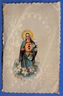 Heiligenbildchen Um 1900, Glanzbild, Florale Prägeverzierung - Religion &  Esoterik