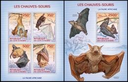 ic14102ab Ivory Coast 2014 Bats 2 s/s